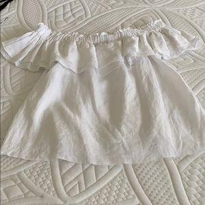 Size S Young Fabulous & Broke linen blouse